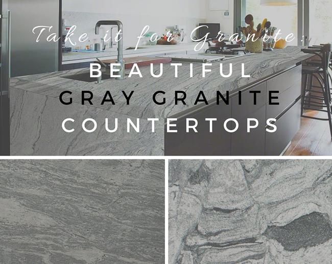 Take It For Granite Beautiful Gray Granite Countertops